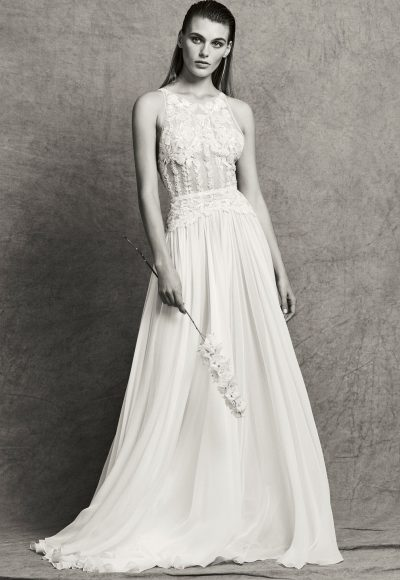 Sleeveless Illusion Beaded and Embroidered A-Line Wedding Dress by Zuhair Murad