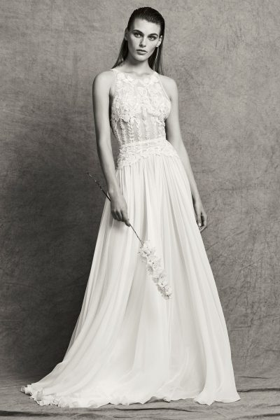 Sleeveless Illusion Beaded and Embroidered A-Line Wedding Dress by Zuhair Murad - Image 1
