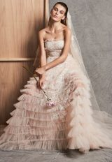 Strapless Ruffle Tiered A-line Wedding Dress by Zuhair Murad - Image 1