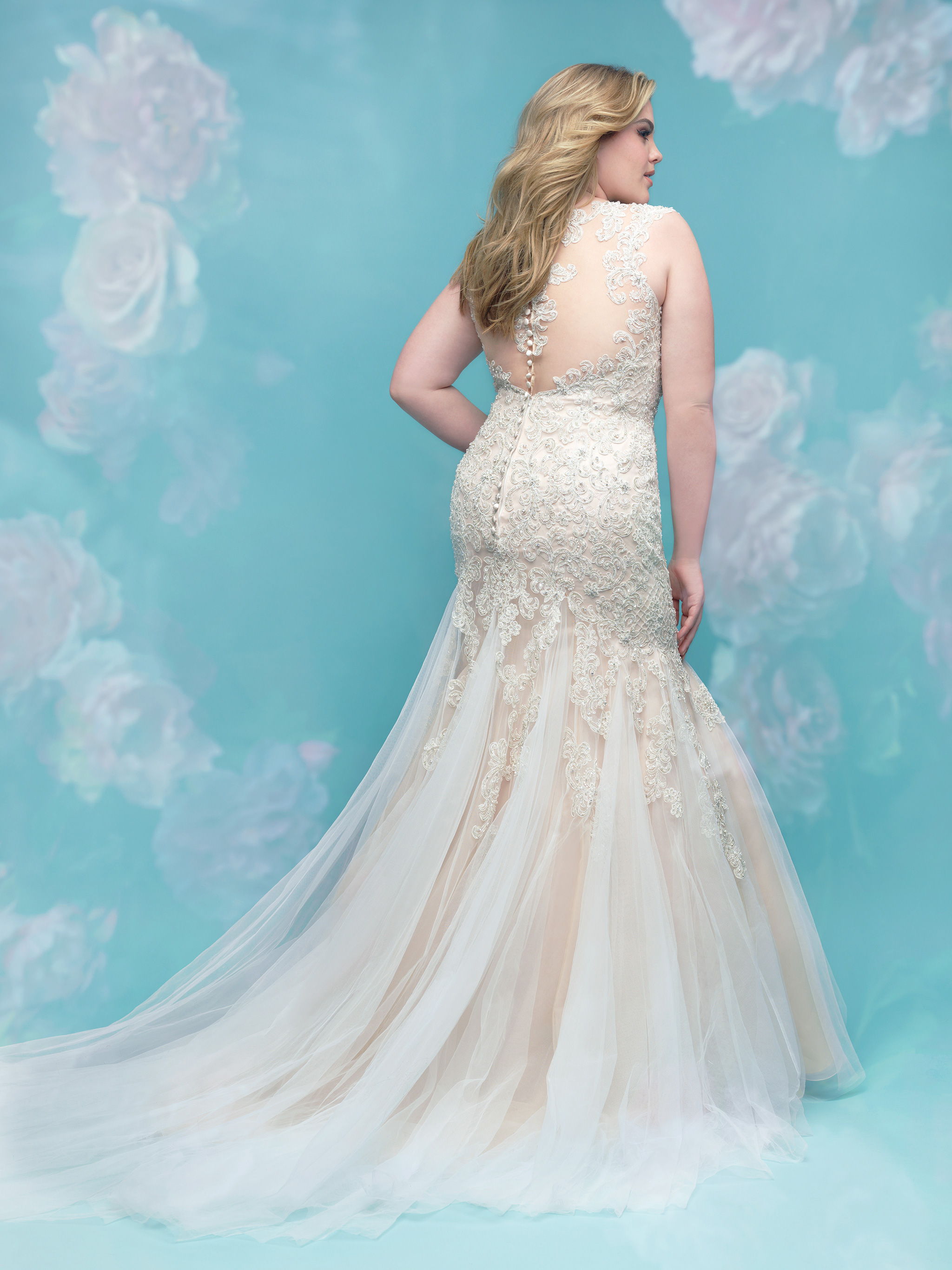 Beaded Lace Fit And Flare Sleeveless Wedding Dress | Kleinfeld Bridal