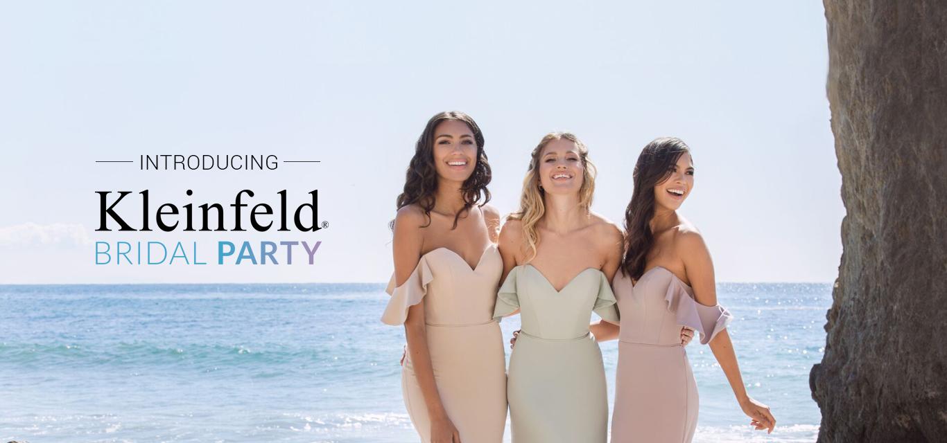 Three Bridesmaids on Beach