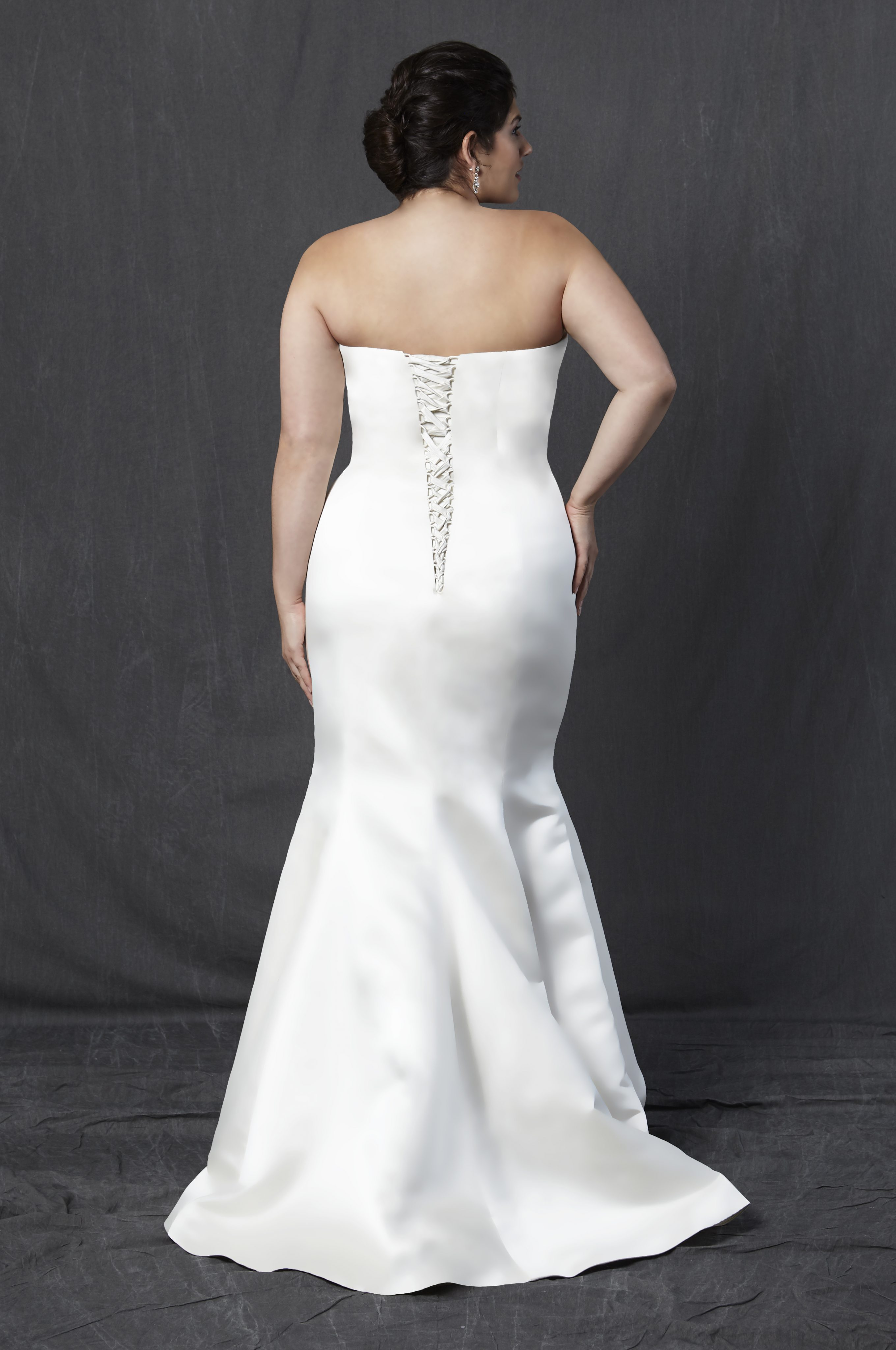 Simple Silk Fit And Flare Wedding Dress Kleinfeld Bridal
