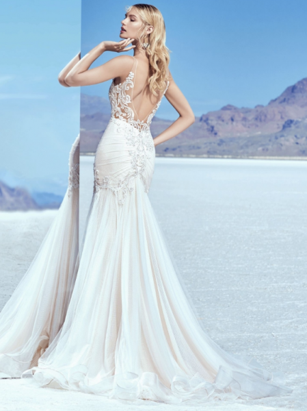 Illusion Sweetheart Neck Beaded Bodice Fit And Flare Wedding Dress by Maggie Sottero - Image 2