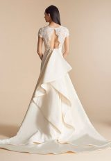 Fit And Flare Wedding Dress With Lace Bodice And V-neckline by Allison Webb - Image 2
