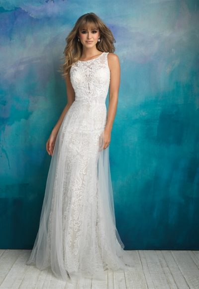 Bohemian Sheath Wedding Dress by Allure Bridals