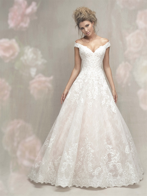 Cap Sleeve Off The Shoulder Lace Ball Gown Wedding Dress Kleinfeld