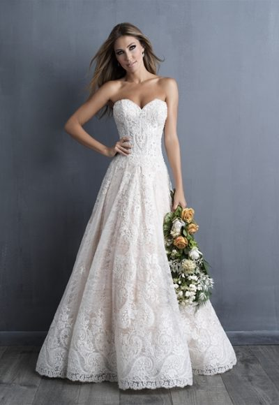 Classic Fit And Flare Wedding Dress by Allure Bridals