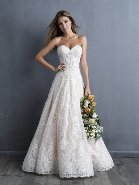 Classic Fit And Flare Wedding Dress by Allure Bridals - Image 1
