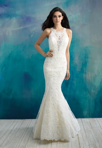 Classic Mermaid Wedding Dress by Allure Bridals