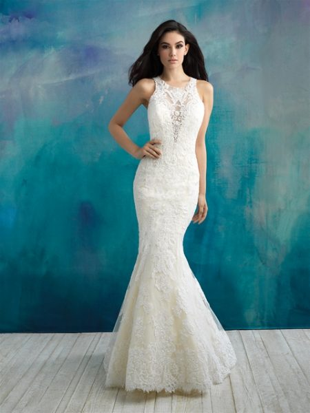 Classic Mermaid Wedding Dress by Allure Bridals - Image 1
