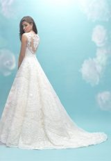 Deep Sweetheart Neck Sleeveless Lace A-line Wedding Dress by Allure Bridals - Image 2