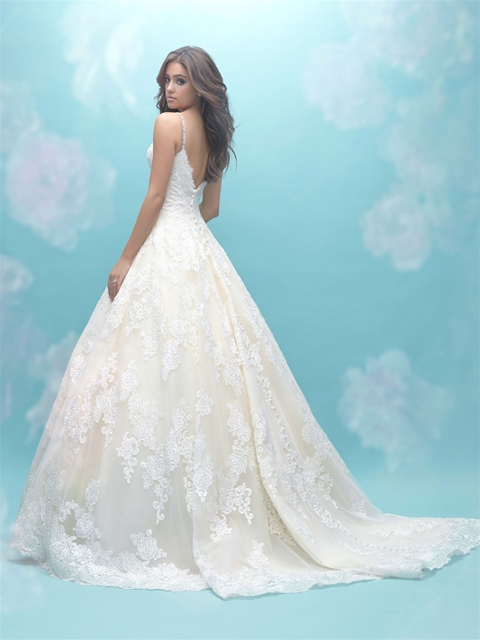 Deep Sweetheart Neck Sleeveless Simple Lace Ball Gown Wedding Dress ...