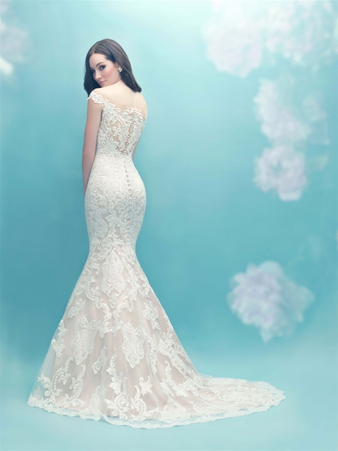 Illusion Neck Fit And Flare Lace Wedding Dress | Kleinfeld Bridal