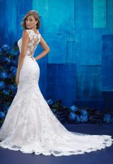 Illusion Sweetheart Capsleeve Lace Fit And Flare Wedding Dress by Allure Bridals - Image 2