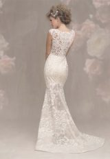 Illusion Sweetheart Neck Cap Sleeve Lace Fit And Flare Wedding Dress by Allure Bridals - Image 2