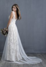Lace Detailed V-neck A-line Wedding Dress by Allure Bridals - Image 2