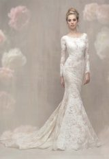 Lace Long Sleeve Fit And Flare Wedding Dress by Allure Bridals - Image 1