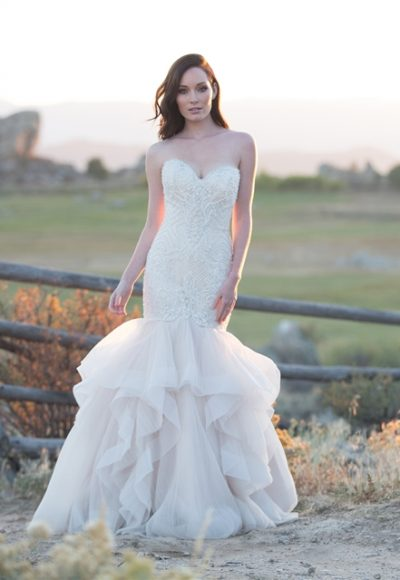 Modern Mermaid Wedding Dress by Allure Bridals
