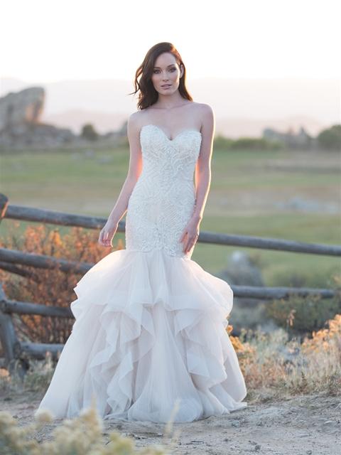 Modern Mermaid Wedding Dress by Allure Bridals - Image 1