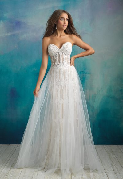 Romantic A-line Wedding Dress by Allure Bridals
