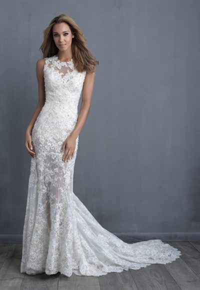 Romantic Fit And Flare Wedding Dress by Allure Bridals