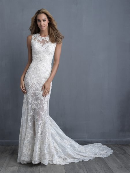 Romantic Fit And Flare Wedding Dress by Allure Bridals - Image 1