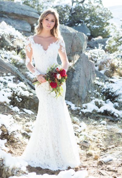 Romantic Sheath Wedding Dress by Allure Bridals