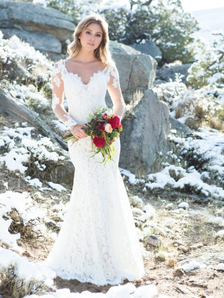 Romantic Sheath Wedding Dress by Allure Bridals - Image 1