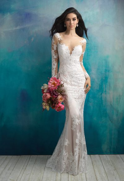 Sexy Sheath Wedding Dress by Allure Bridals