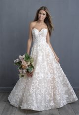Simple Ball Gown Wedding Dress by Allure Bridals - Image 1