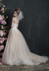 Strapless Lace And Tulle Ball Gown Wedding Dress by Allure Bridals - Image 2