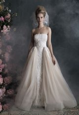 Strapless Lace And Tulle Ball Gown Wedding Dress by Allure Bridals - Image 1