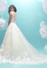 Sweetheart Neck Lace Sleeveless Ball Gown Wedding Dress by Allure Bridals - Image 2
