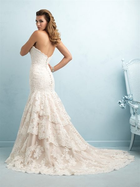 Sweetheart Neck Strapless Lace Wedding Dress by Allure Bridals - Image 2