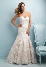 Sweetheart Neck Strapless Lace Wedding Dress by Allure Bridals - Image 1