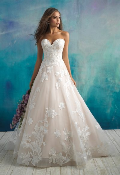 Trendy Ball Gown Wedding Dress by Allure Bridals