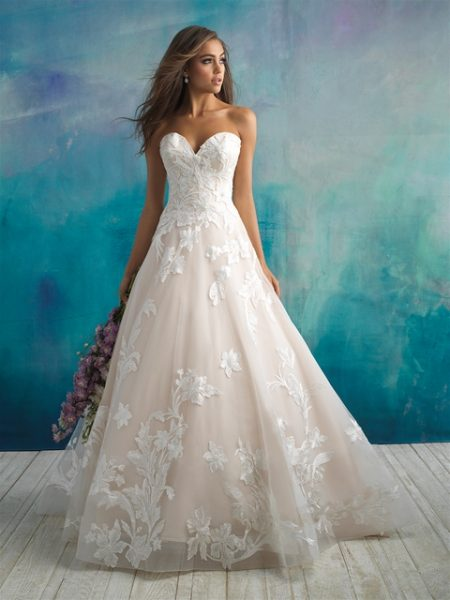 Trendy Ball Gown Wedding Dress by Allure Bridals - Image 1