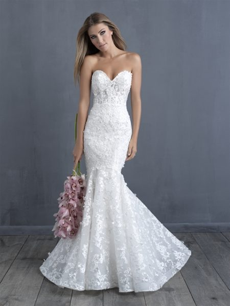 Trendy Mermaid Wedding Dress by Allure Bridals - Image 1