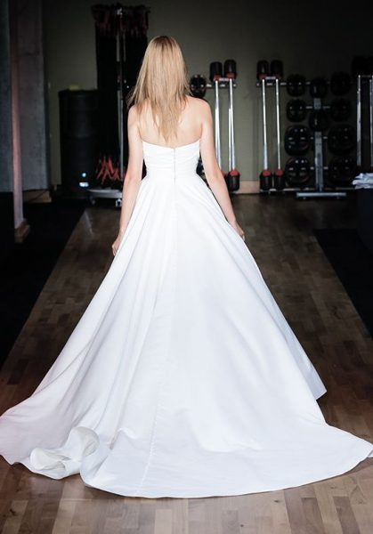 Satin Strapless Natural Waist Ball Gown Wedding Dress by Alyne by Rita Vinieris - Image 2