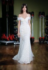 Sequin Off The Shoulder Lace Fit And Flare Wedding Dress by Alyne by Rita Vinieris - Image 1