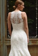 High Illusion Sweetheart Neck Lace Fit And Flare Wedding Dress - Image 2