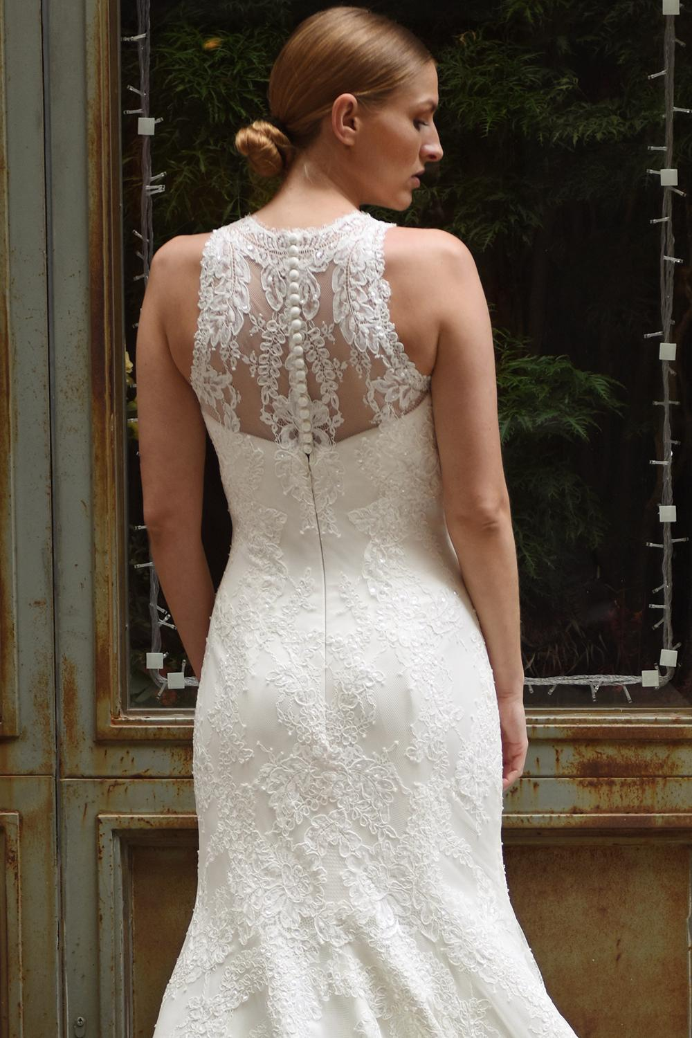 ed482b567a6 High Illusion Sweetheart Neck Lace Fit And Flare Wedding Dress ...