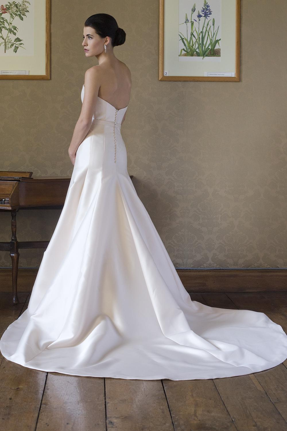 Simple Satin Sweetheart Neck Fit And Flare Wedding Dress | Kleinfeld ...