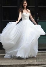 Strapless Sweetheart Neck A-line Wedding Dress by Augusta Jones - Image 1