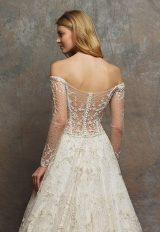 Off The Shoulder Sweetheart Neck Beaded A-line Wedding Dress by Enaura Bridal - Image 2