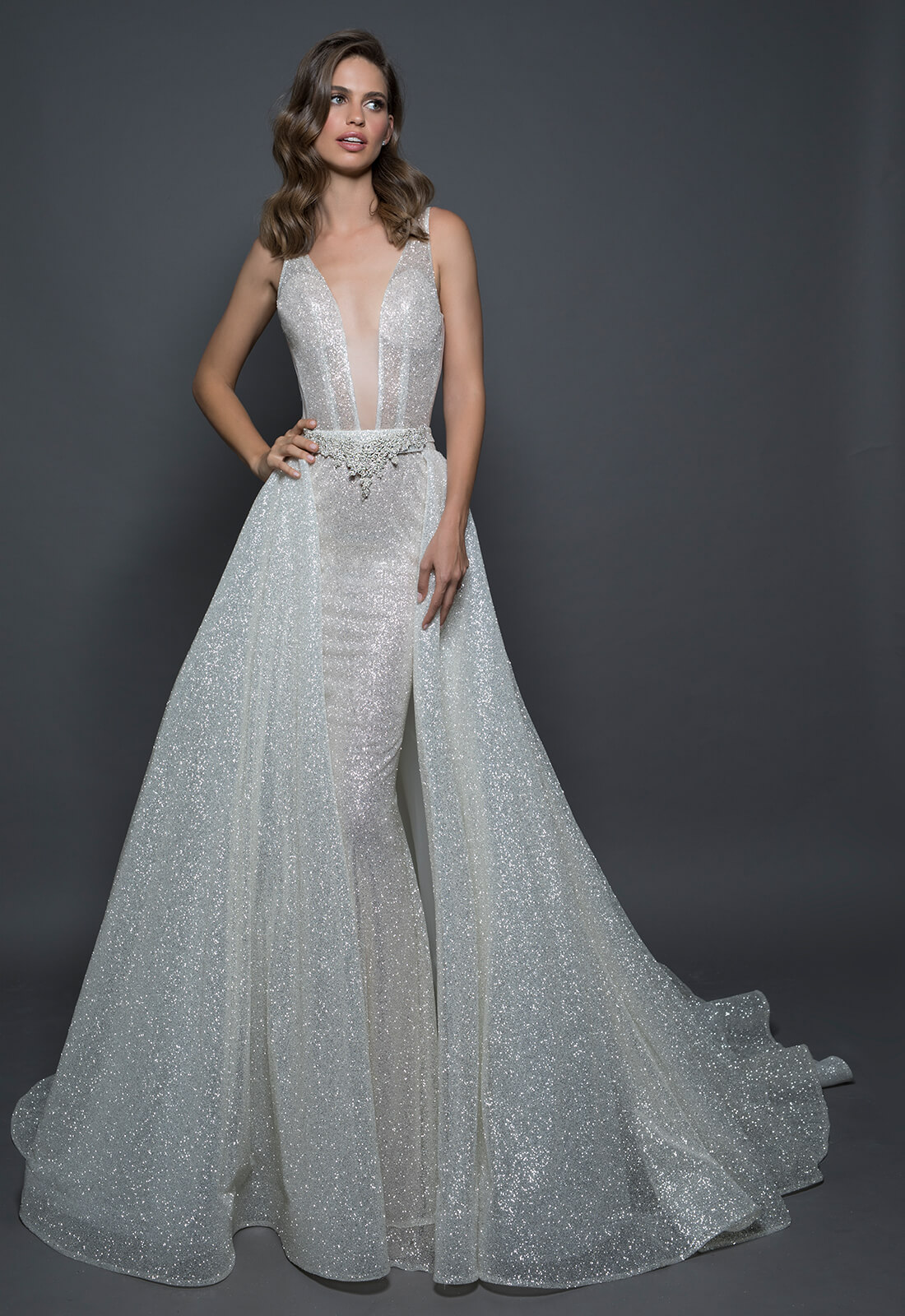 Detachable Sparkle Overskirt | Kleinfeld Bridal