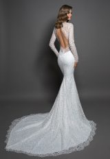 Lace Sheath Long Sleeve Dress With V-neckline by Love by Pnina Tornai - Image 2