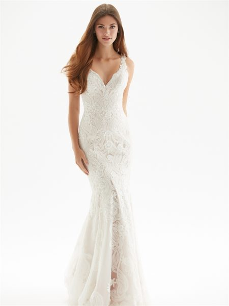Classic Sheath Wedding Dress by Madison James - Image 1
