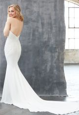 Halter Neckline Open Back Beaded Bodice Fit And Flare Wedding Dress by Madison James - Image 2