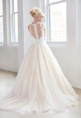 High Neck Illusion Sweetheart Lace Bodice Tulle Skirt Wedding Dress by Madison James - Image 2